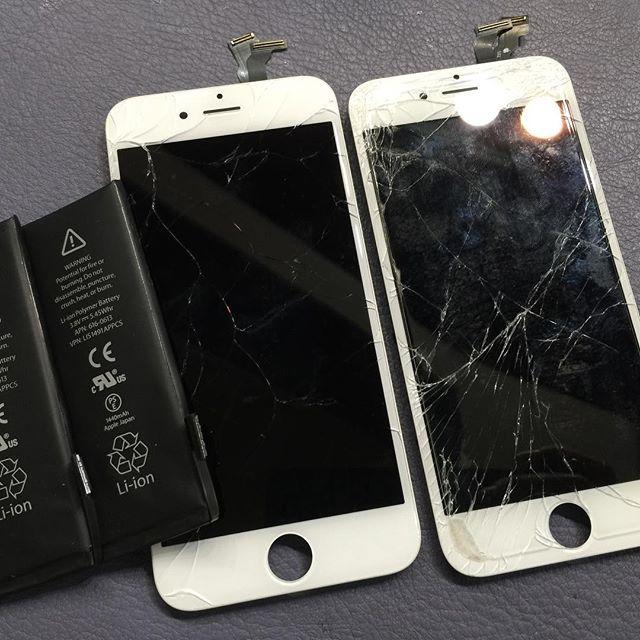 iPhone 画面割れ、バッテリー交換ラッシュ